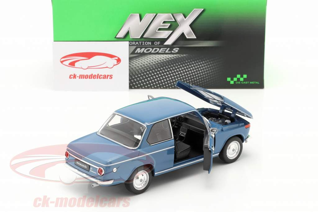 BMW 2002ti bleu 1:24 Welly