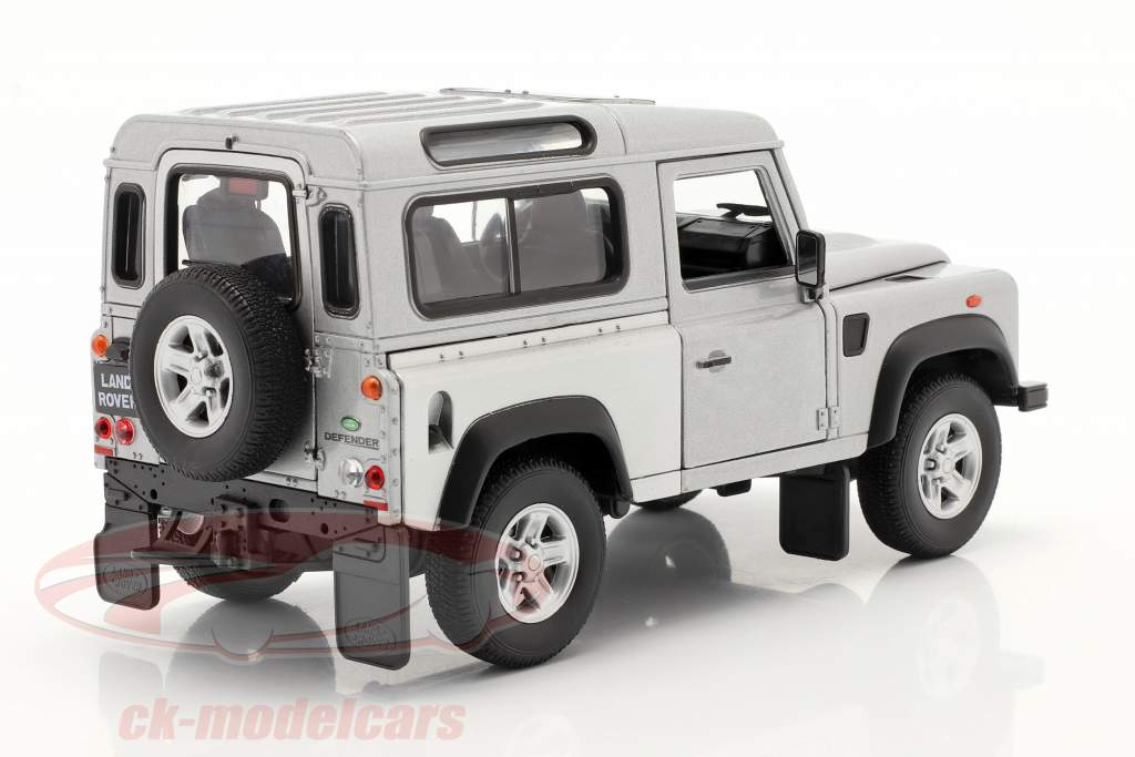 Land Rover Defender argento 1:24 Welly