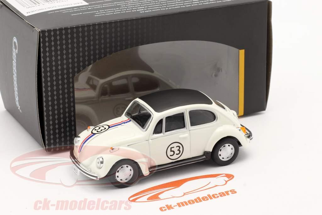 Volkswagen VW Beetle #53 Herbie white 1:43 Cararama