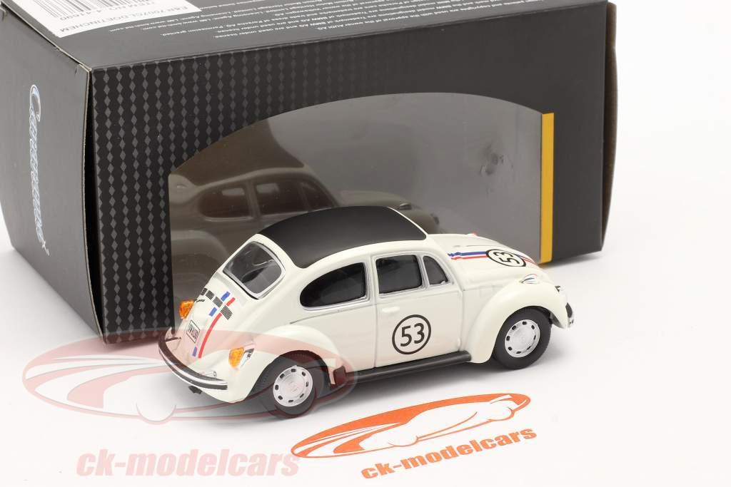 Volkswagen VW Scarabeo #53 Herbie bianca 1:43 Cararama
