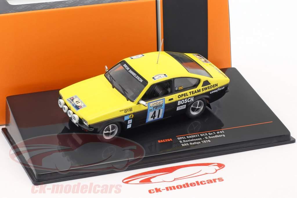 Opel Kadett GT/E Gr.1 #41 Lombard RAC samle 1976 Danielsson, Sundberg 1:43 Ixo / 2. valg