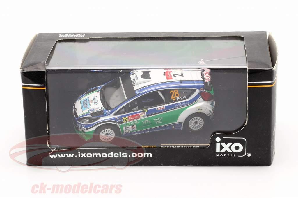 Ford Fiesta S2000 #28 X.Pons / A.Haro S-WRC Mexico Rallye 2010 1:43 Ixo / 2. Wahl