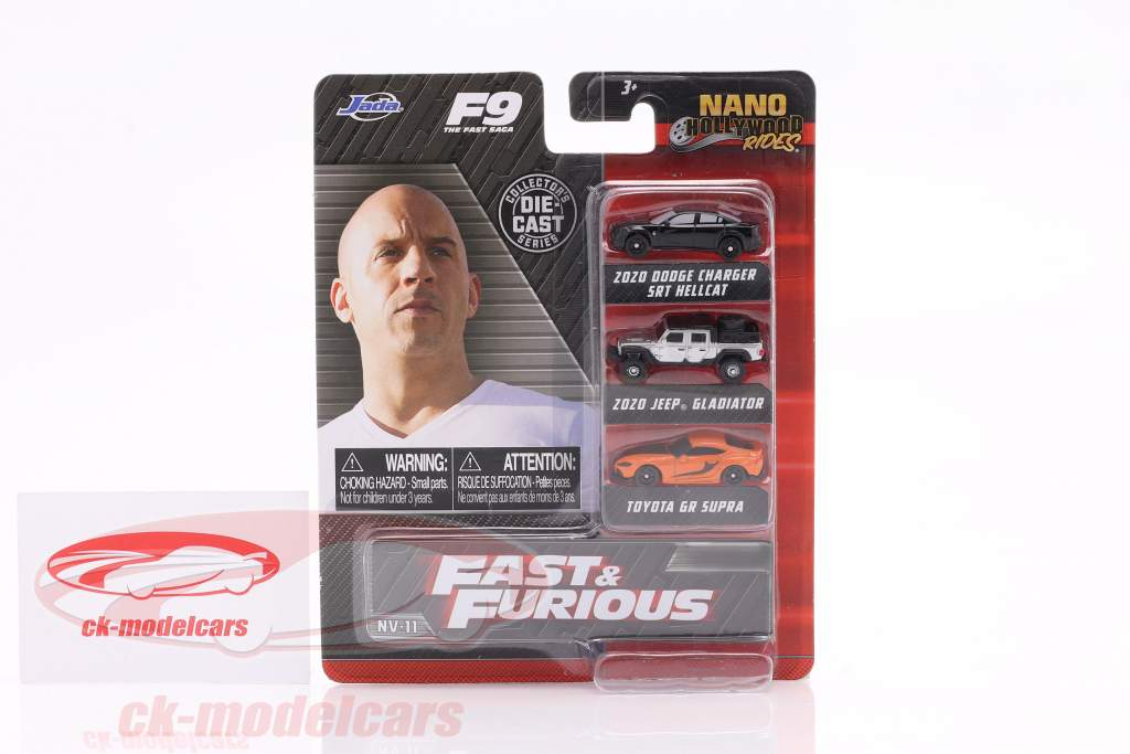 3-Car Set Nano Cars Película Fast & Furious 9 (2021) Jada Toys