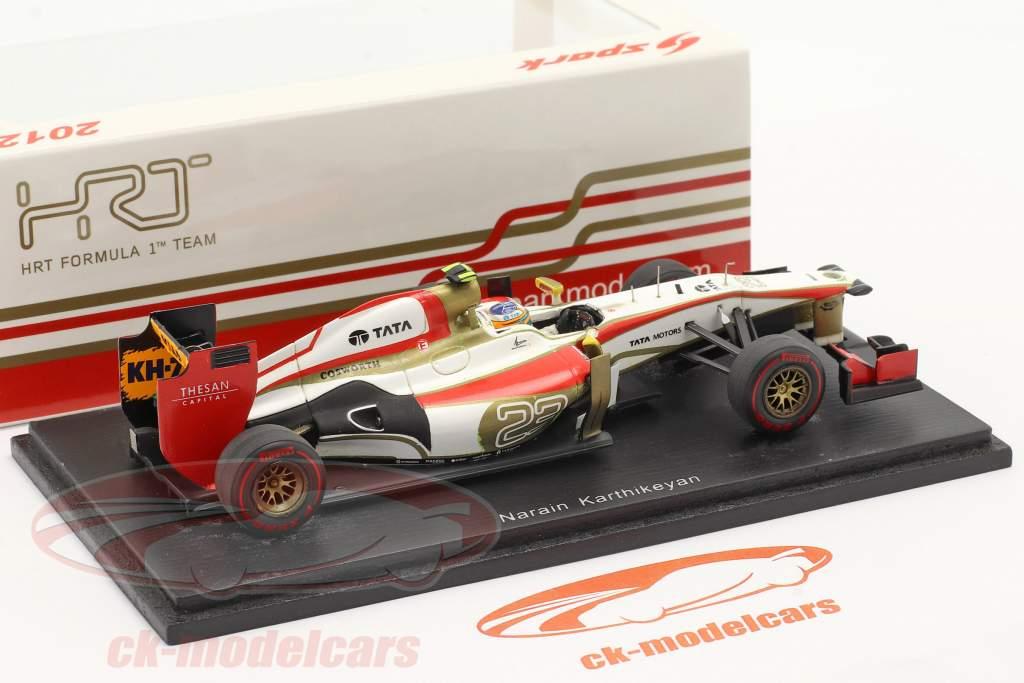 N. Karthikeyan HRT F112 #23 Gran Premio de Mónaco de Fórmula 1 2012 1:43 Spark