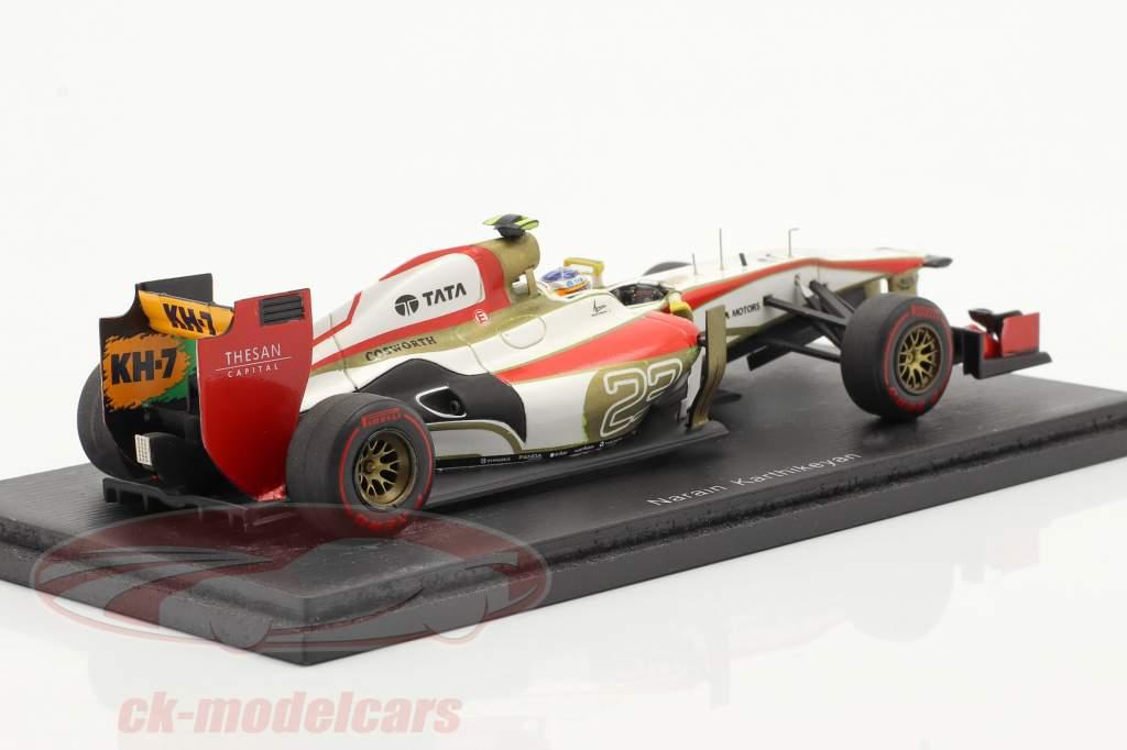 N. Karthikeyan HRT F112 #23 Monaco GP Formule 1 2012 1:43 Spark