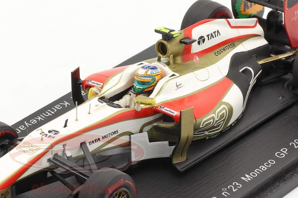 N. Karthikeyan HRT F112 n º 23 GP de Mônaco de Fórmula 1, 2012 1:43 faísca