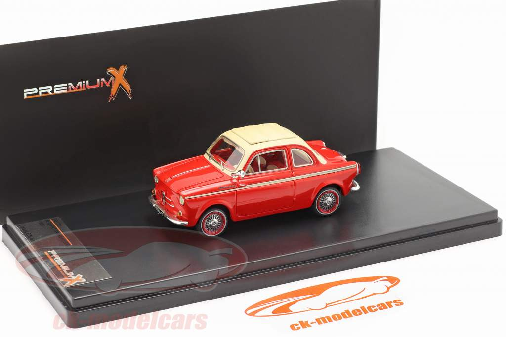NSU-Fiat Weinsberg 500 Jaar 1960 rood 1:43 Premium X
