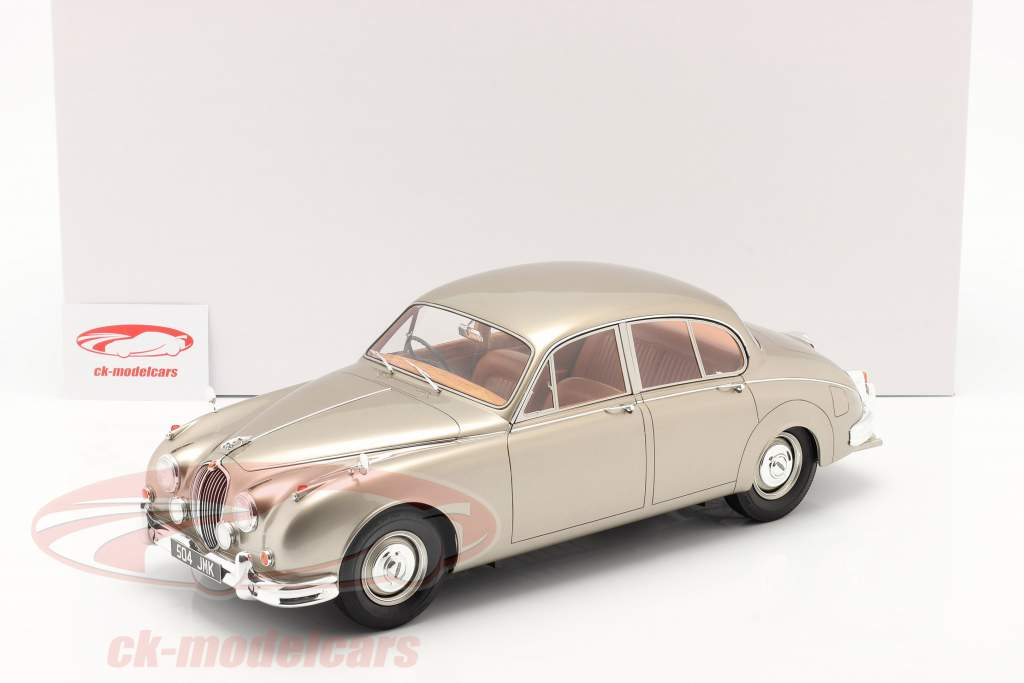 Jaguar MK II year 1959-1968 gold metallic 1:12 Matrix