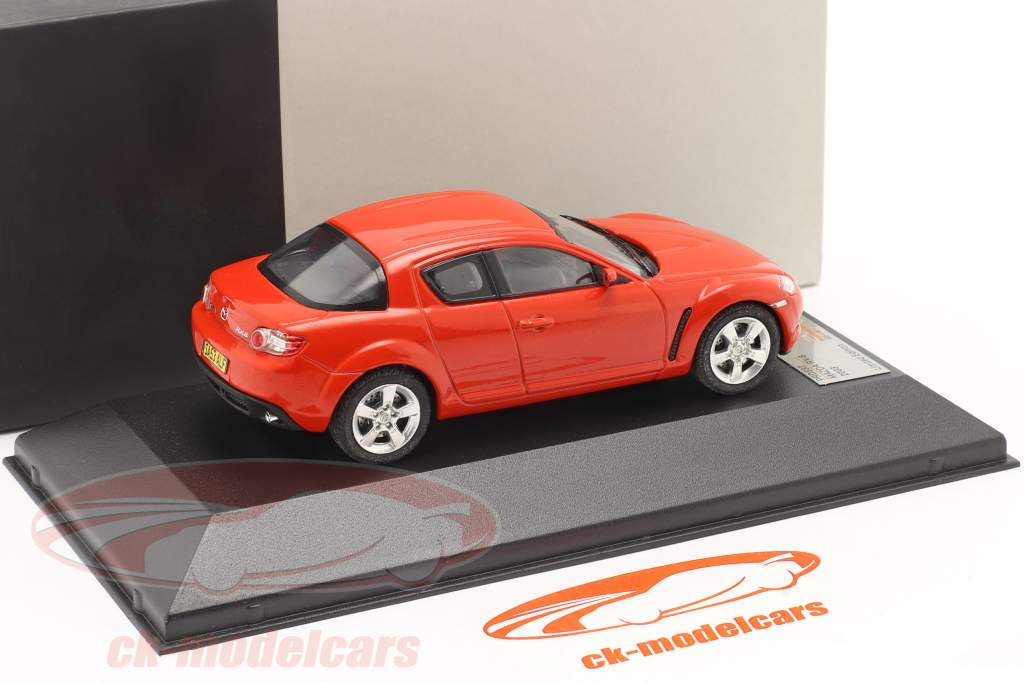 Mazda RX-8 Jaar 2003 rood 1:43 Premium X