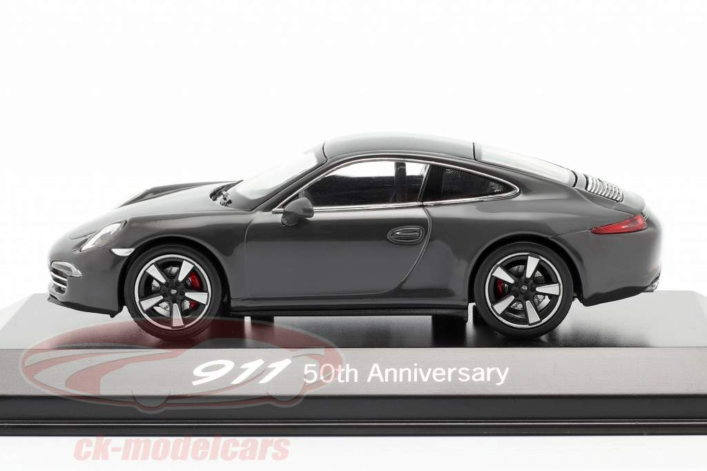 Porsche 911 (991) grå 50 År Porsche 911 Edition 1:43 Welly