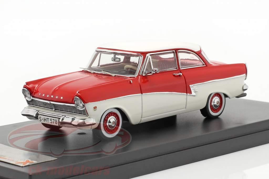 Ford Taunus 17M anno 1957 rosso / bianco 1:43 Premium X