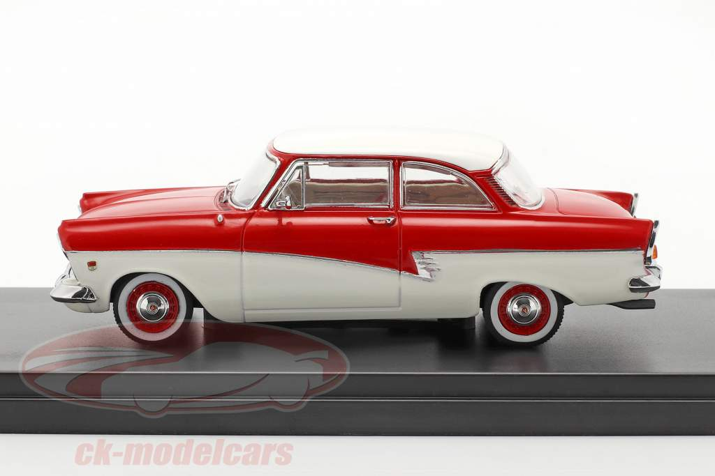 Ford Taunus 17M ano 1957 vermelho / branco 1:43 Premium X