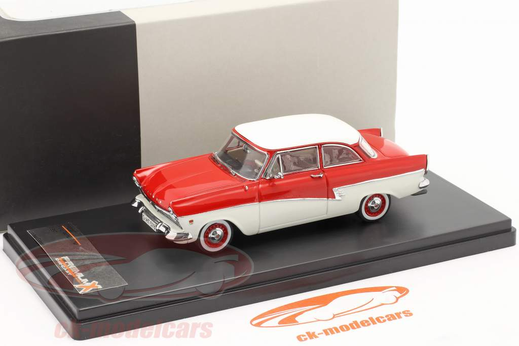 Ford Taunus 17M an 1957 rouge / blanc 1:43 Premium X / 2e choix