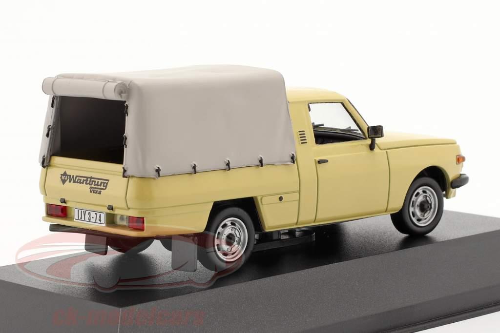 Wartburg 353 Pick-up år 1977 sand farvet 1:43 IST-Models