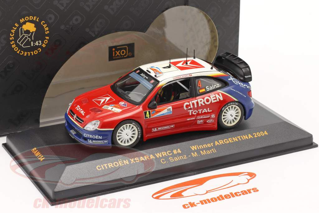 Citroen Xsara WRC #4 ganador reunión Argentina 2004 1:43 Ixo