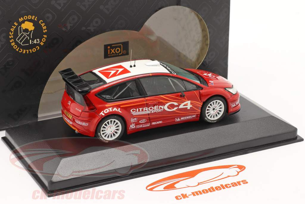 Citroen C4 WRC Präsentation Testcar 2006 rot / weiß 1:43 Ixo