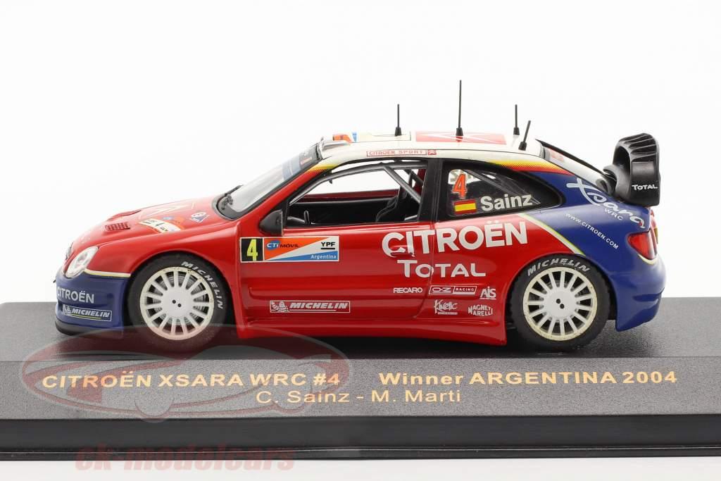 Citroen Xsara WRC #4 vencedora corrida Argentina 2004 1:43 Ixo