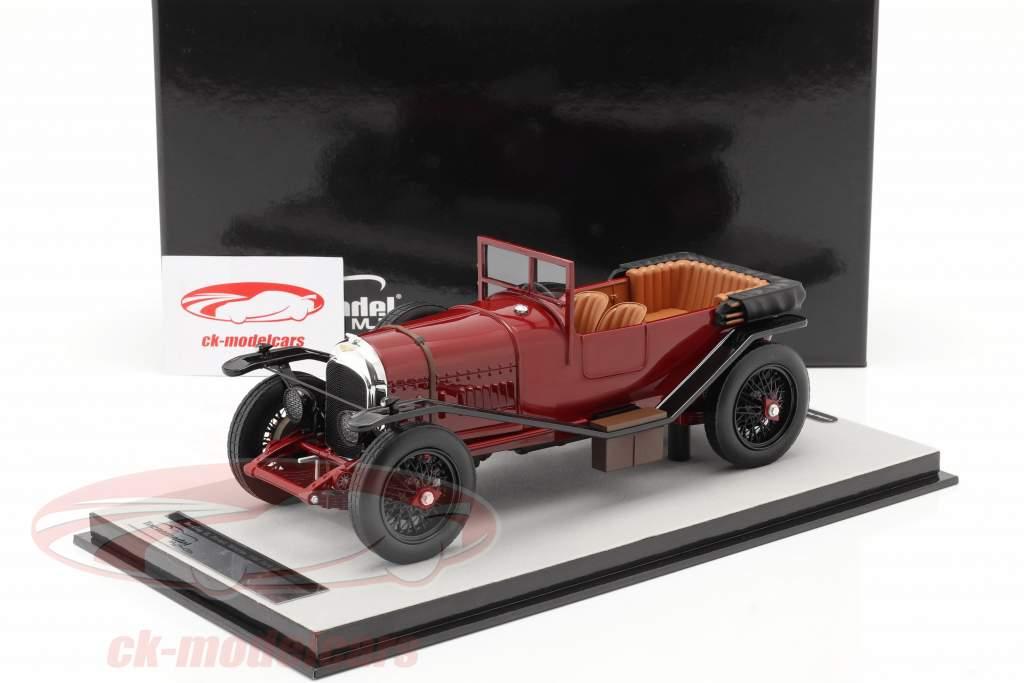 Bentley 3L Street-versie Open Bouwjaar 1924 donker rood 1:18 Tecnomodel