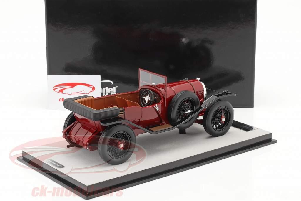 Bentley 3L Straßenversion offen Baujahr 1924 dunkelrot 1:18 Tecnomodel