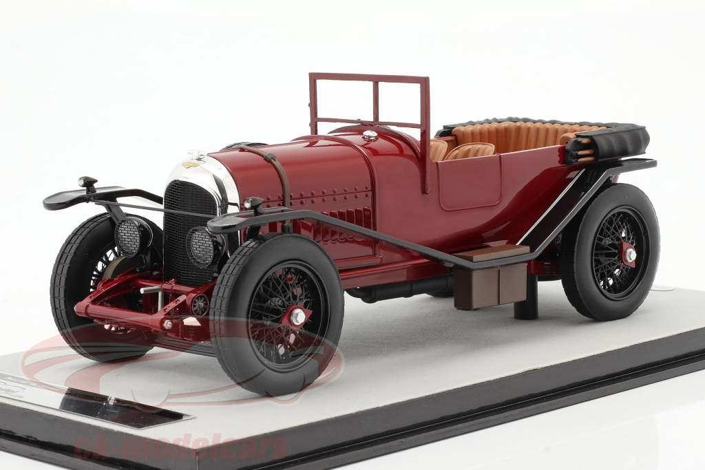 Bentley 3L Version rue ouvert Année de construction 1924 foncé rouge 1:18 Tecnomodel