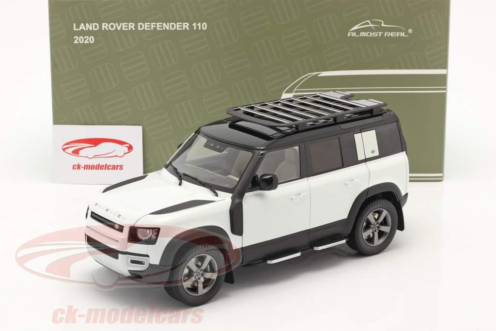 Land Rover Defender 110 Con Barra de techo 2020 fuji blanco 1:18 Almost Real