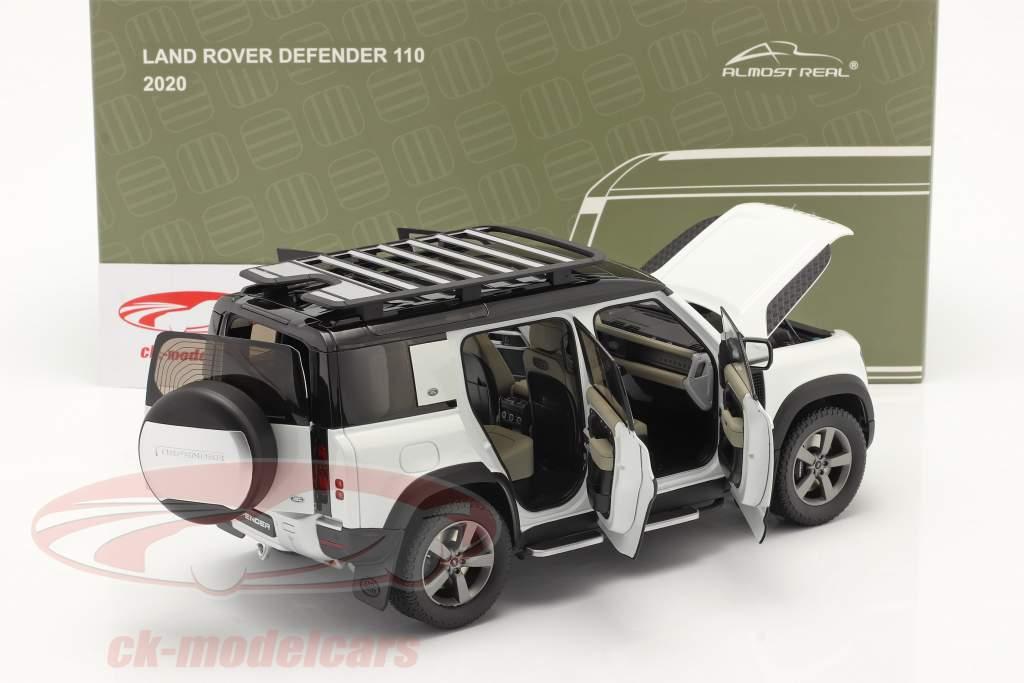 Land Rover Defender 110 Avec galerie de toit 2020 fuji blanc 1:18 Almost Real