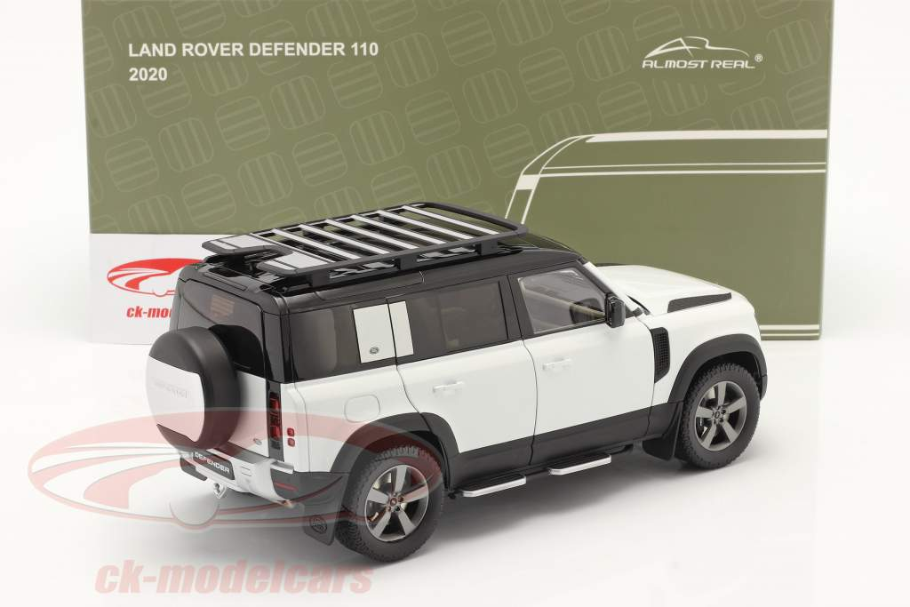 Land Rover Defender 110 with roof rack 2020 fuji white 1:18 Almost Real