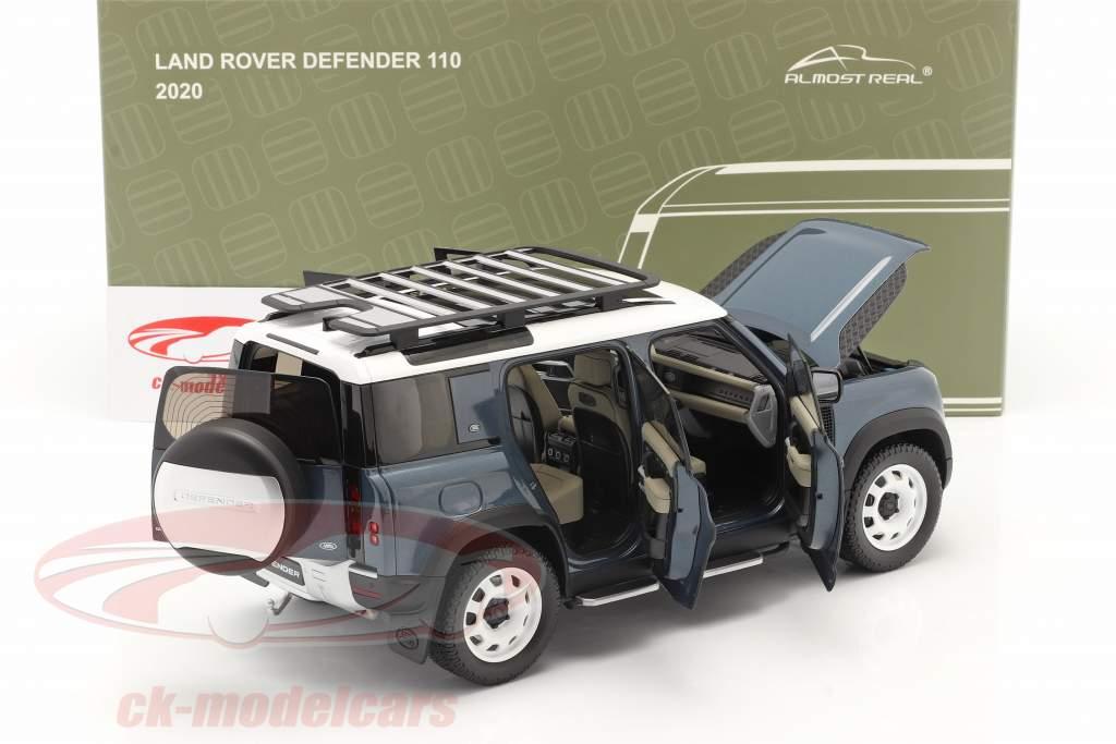 Land Rover Defender 110 Avec galerie de toit 2020 tasman bleu 1:18 Almost Real