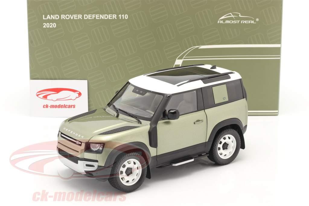 Land Rover Defender 90 Con portapacchi 2020 pangea verde 1:18 Almost Real