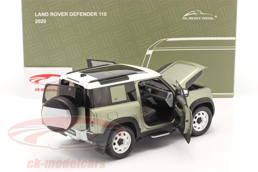 Land Rover Defender 90 Med tagbøjler 2020 pangea grøn 1:18 Almost Real