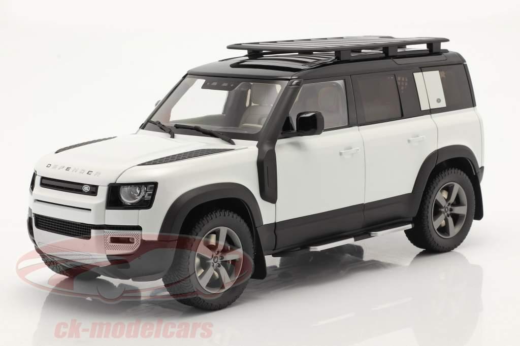 Land Rover Defender 110 Met imperiaal 2020 fuji Wit 1:18 Almost Real