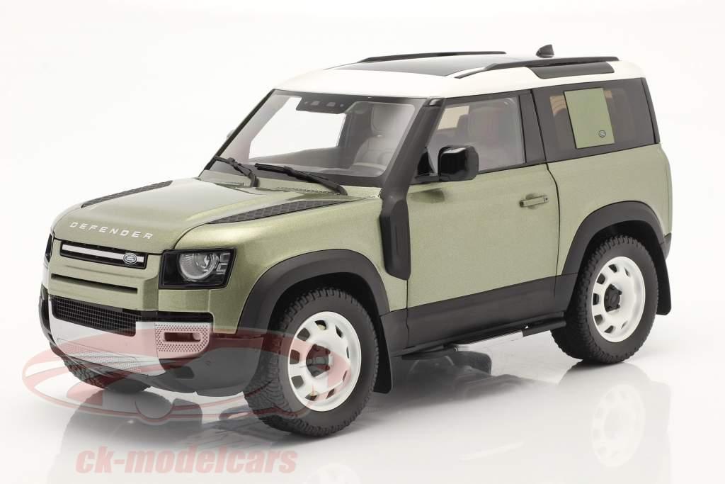 Land Rover Defender 90 Avec galerie de toit 2020 pangea vert 1:18 Almost Real
