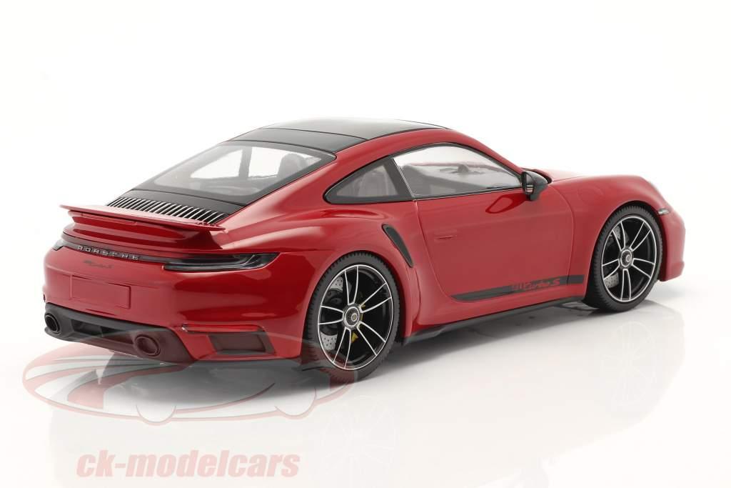 Porsche 911 (992) Turbo S Baujahr 2020 karminrot 1:18 Minichamps