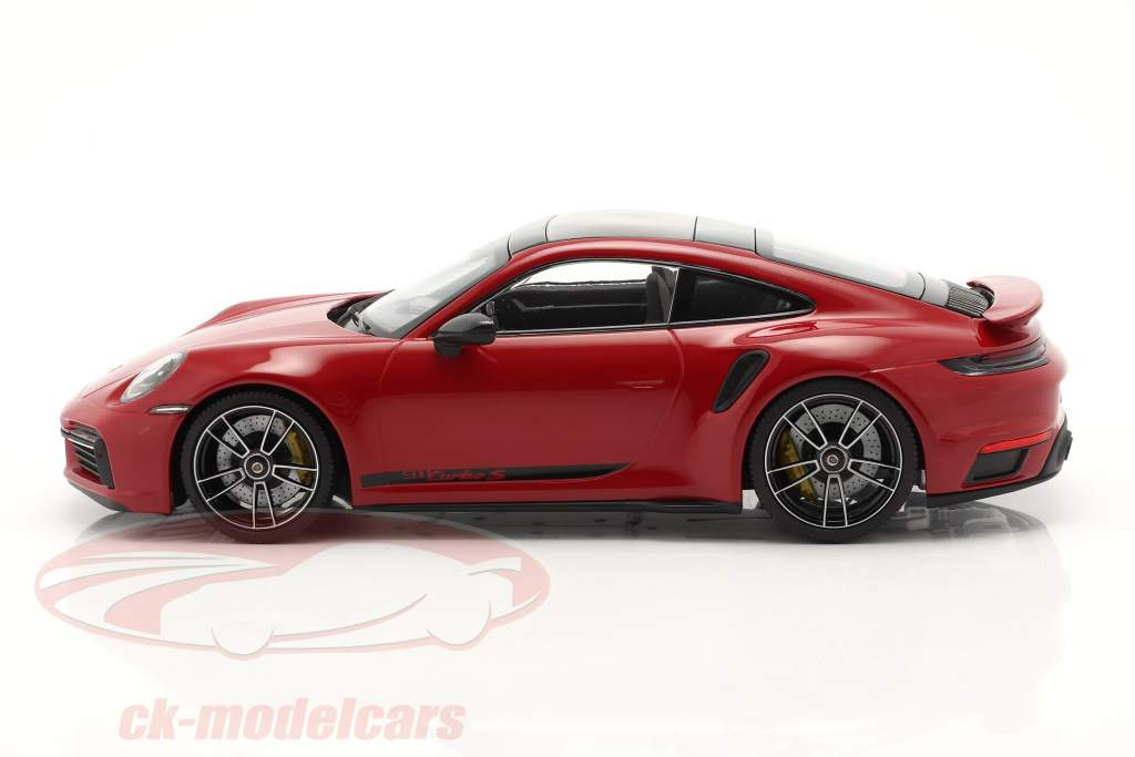 Porsche 911 (992) Turbo S year 2020 carmine red 1:18 Minichamps