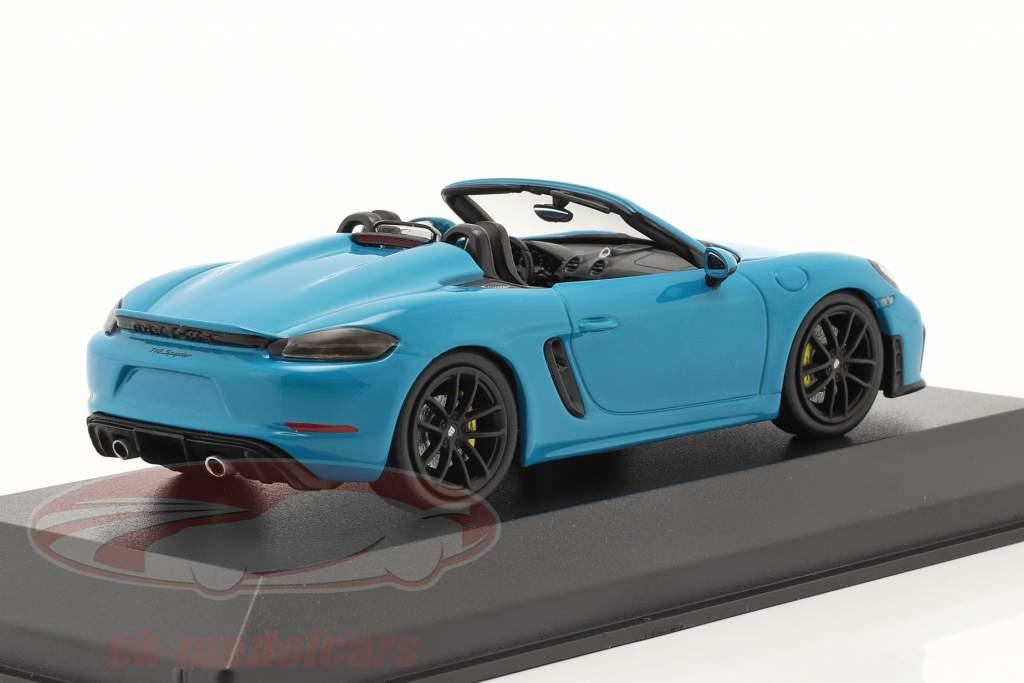 Porsche 718 (982) Boxster Spyder Anno di costruzione 2020 Miami blu 1:43 Minichamps