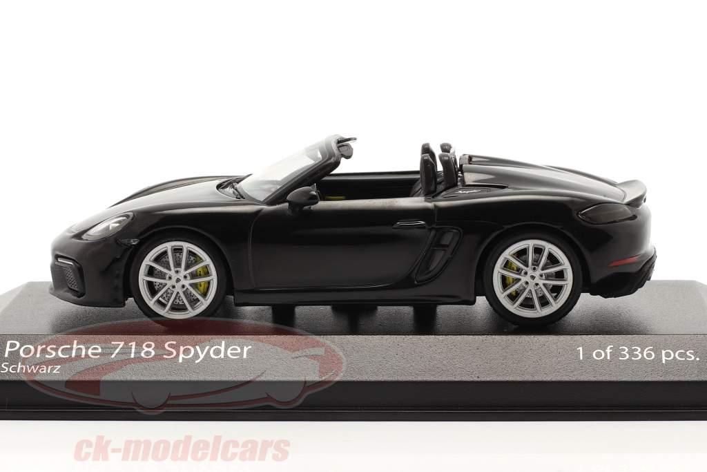 Porsche 718 (982) Boxster Spyder Anno di costruzione 2020 nero 1:43 Minichamps
