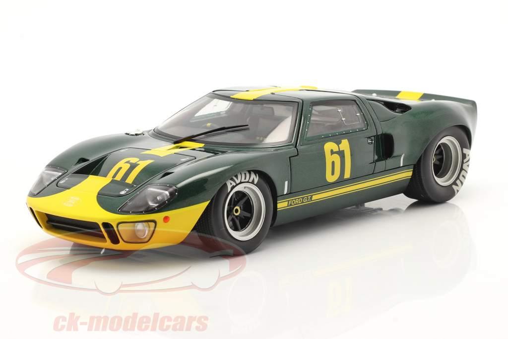 Ford GT40 MK1 #61 mørkegrøn metallisk / gul 1:18 Solido