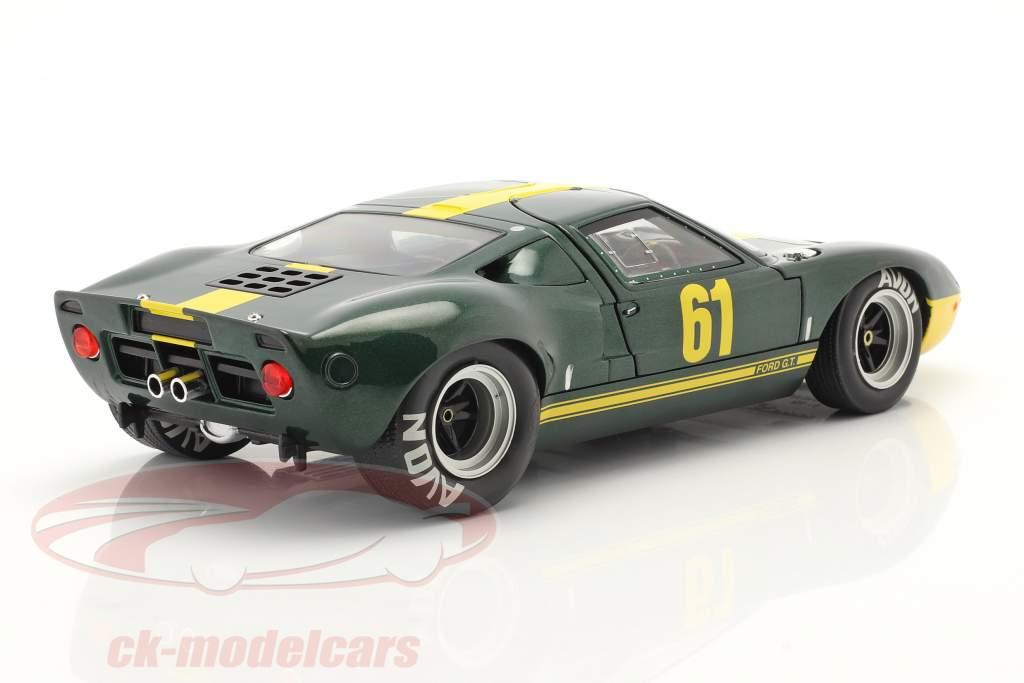 Ford GT40 MK1 #61 dark green metallic / yellow 1:18 Solido