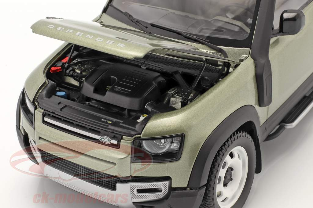Land Rover Defender 90 Con Barra de techo 2020 pangea verde 1:18 Almost Real