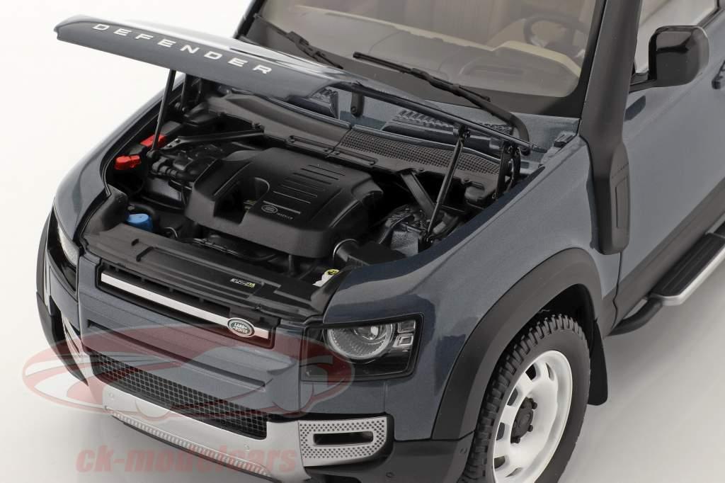 Land Rover Defender 110 Med tagbøjler 2020 tasman blå 1:18 Almost Real