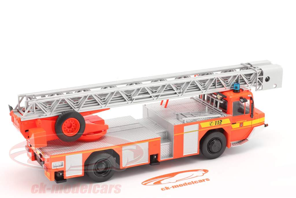 Iveco Magirus DLK 23-12 with turntable ladder fire Department Lam Orange red 1:43 Altaya