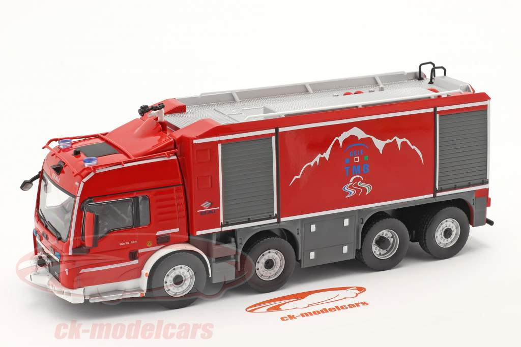 MAN TGS Proteus Geie TMB corpo de Bombeiros vermelho / cinza 1:43 Altaya