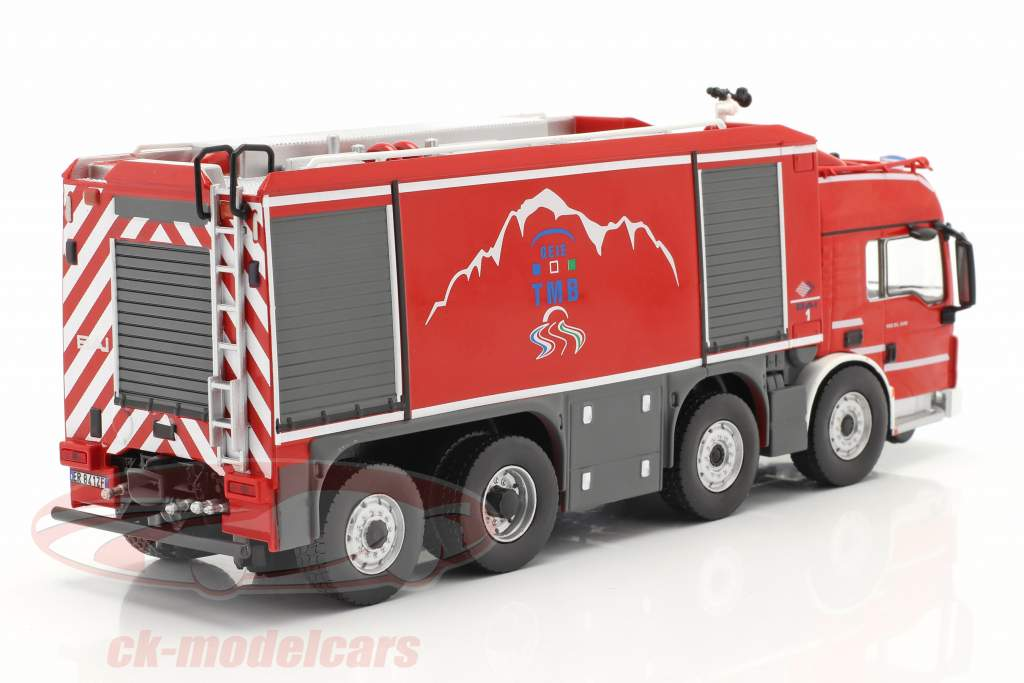 MAN TGS Proteus Geie TMB cuerpo de Bomberos rojo / gris 1:43 Altaya