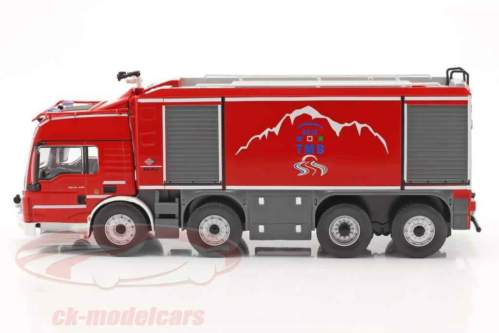 MAN TGS Proteus Geie TMB vigili del fuoco rosso / Grigio 1:43 Altaya