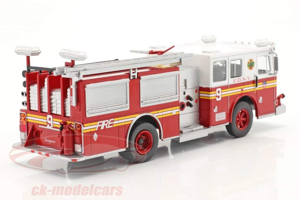Seagrave Fire Truck cuerpo de Bomberos New York rojo / blanco 1:43 Altaya