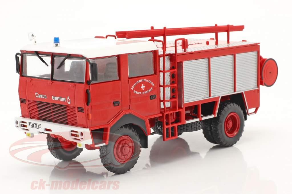Berliet GBD 4x4 service d'incendie Savoie rouge 1:43 Altaya