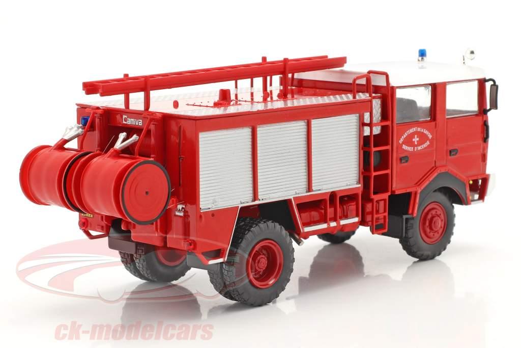 Berliet GBD 4x4 Brandweer Savoie rood 1:43 Altaya
