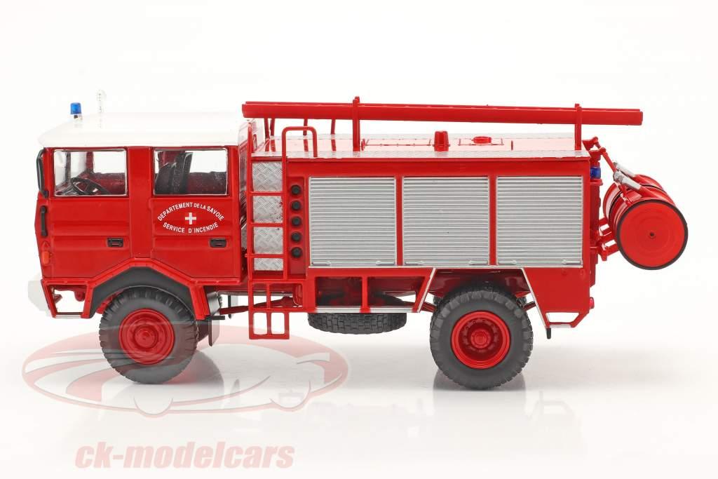 Berliet GBD 4x4 vigili del fuoco Savoie rosso 1:43 Altaya