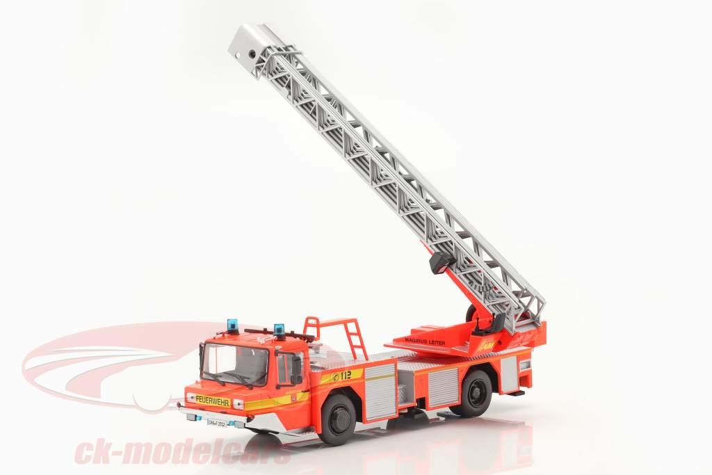 Iveco Magirus DLK 23-12 Com Escada giratória corpo de Bombeiros Lam Vermelho alaranjado 1:43 Altaya