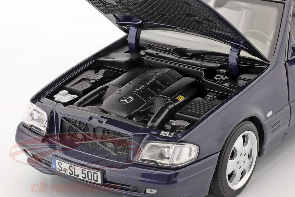 Mercedes-Benz 500 SL (R129) Facelift 1998-2001 azurblå blå 1:18 Norev